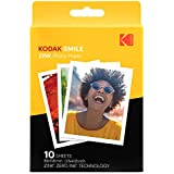 Kodak 3.5x4.25 inch Premium Zink Print Photo Paper (10 Sheets) Compatible with Kodak Smile Classic Instant Camera