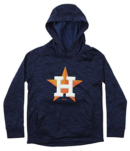 (Outerstuff MLB Youth's Performance Fleece Primary Logo Hoodie, Houston Astros Medium (10-12))