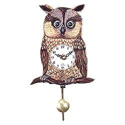Black Forest Owl' Eye 5.75-Inch Wide Wall Clock by Alexander Taron Importer