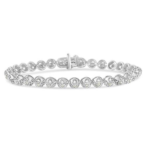Sterling Silver Rose-Cut Diamond Bracelet (1.00 cttw, I-J color, I3 clarity)