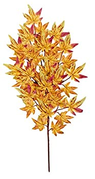 """Worth Imports Japanese Maple Spray with 45 Leaves, Yellow, 26"""""""
