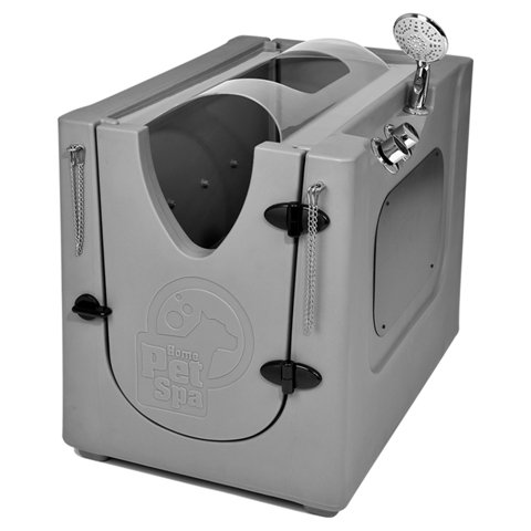 Pet Wash Enclosure with Splash Guard, Wheels & Removable Shelf (Best Price Jet Washers)