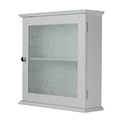 Elegant Home Fashions Dixie Medicine Wall Cabinet with 1 Glass Door