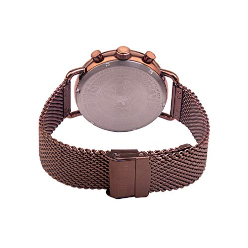 Swiss Eagle herr rik brun urtavla brun nät metallrem urban mode multifunktion klocka SE-9169-22