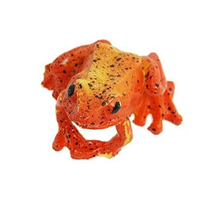 Amazon.com : Emulational Cerámica rana Decoración de Mesa para Acuario, naranja / rojo : Pet Supplies