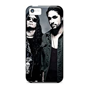 Shockproof Cell-phone Hard Covers For Iphone 5c With Unique Design Trendy Lacrimas Profundere Band Series CristinaKlengenberg