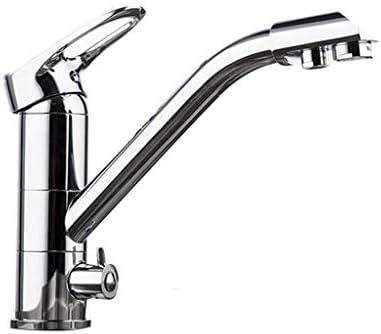 キッチン蛇口デッキ取り付けミキサータップ360度回転浄水機能