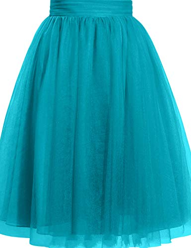 Cdress Women's Tulle Knee Length Short Tutu Skirt Middle A-Line for Prom Party M