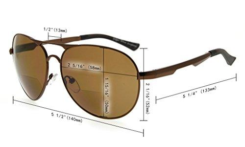 Metal soleil monture de Polarisees verres en Dore Gris lunettes verres style Polycarbonate Lunettes Verre Eyekepper aviateur soleil qgwFfTW