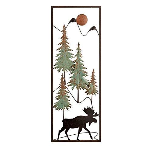 Metal Woodland Moose Wall Decor