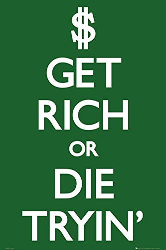 Get Rich or Die Trying' (50 Cent) Decorative Novelty Rap Hip Hop Music Poster Print 24x36