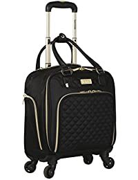 """16"""" Under Plane Seat Luggage Tote, Black with Gold Color Option"""