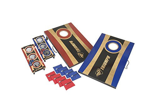 TRIUMPH Tournament 2-in-1 Bag Toss and 3-Hole Washer Toss Combo by TRIUMPH
