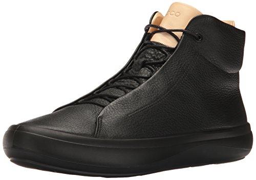 Ecco Mænds Kinhin Høj Top Fashion Sneaker Sort / Grønt Tan lNW593S7