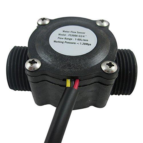 DIGITEN G3/4'' Water Flow Control LCD Display+Flow Sensor Meter+Solenoid Valve Gauge