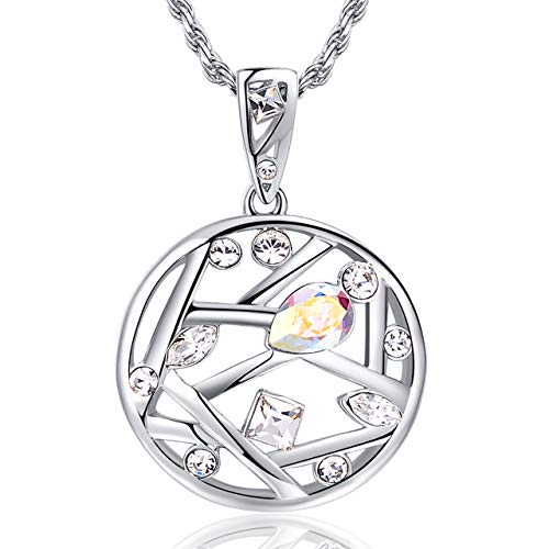 PICTEK Tree of Life Pendant Necklace with Fine Swarovski Crystals, Christmas and Birthday Gift for Women