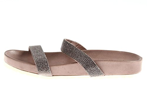 Muli Brillantini Cuoio Estiva 4516 Kimkay Ciabatte Pelle Pietra Pantofole Elegante IaxnvwC