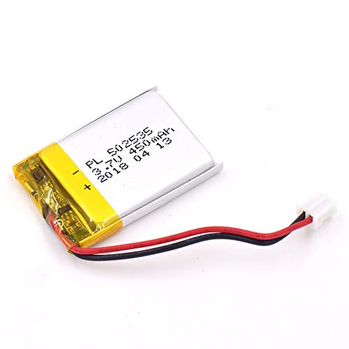 (3.7V 450mAh 502535 Lipo battery Rechargeable Lithium Polymer ion Battery Pack with JST Connector)