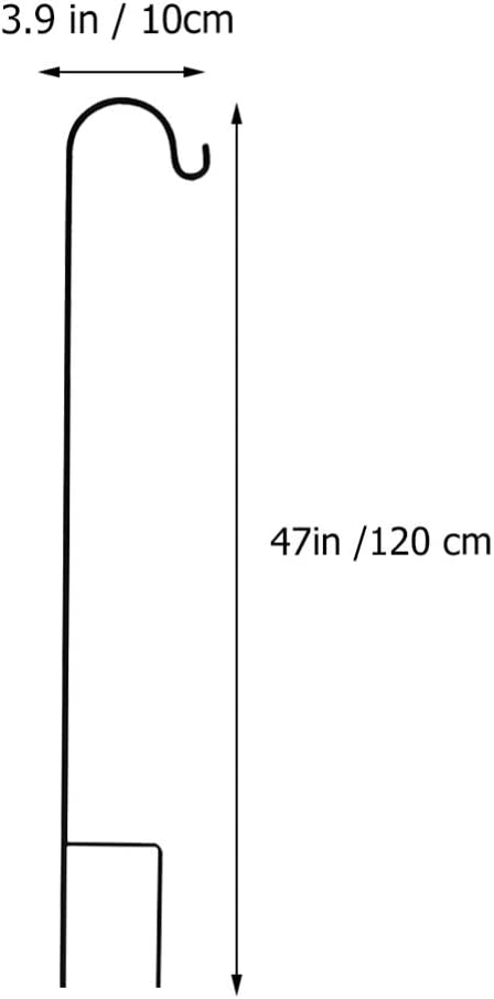 Yardwe Sch/äferhaken Gartenstab Sch/äferstock Metall Laternenstab 80,5CM 120CM 2pcs f/ür Lichter Pflanzen Blumen Futterstation Weihnachtsbeleuchtung Vogelk/äfige Gartenlichter Blumenampelhalter
