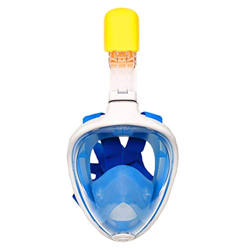 - Alayna TM Snorkel Mask for Snorkeling, Full Face Coverage, Comfortable Gear for Divers GoPro Free Breathing (Blue, S/M)