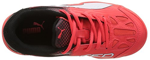 Puma Evospeed Indoor 5.5 Jr - Zapatillas Unisex Niños Rojo - Rot (red blast-white-black 01)