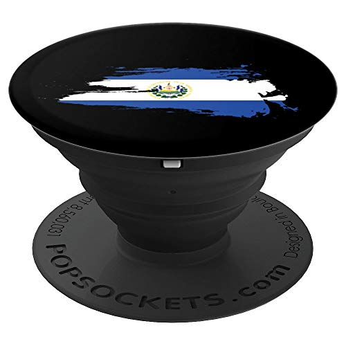 El Salvador Flag | Gift Men Women Kids | Retro Design - PopSockets Grip and Stand for Phones and Tablets