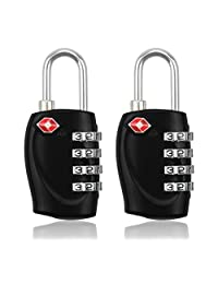 BlueBeach® 2 PCS TSA Travel Lock for Suitcase Luggage Security 4 Digit Combination Number Padlock