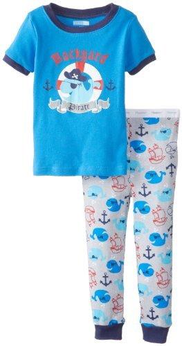 Vitaminas Baby Baby-Boys infantil pirata 2 piezas Conjunto de pijama, azul, 12
