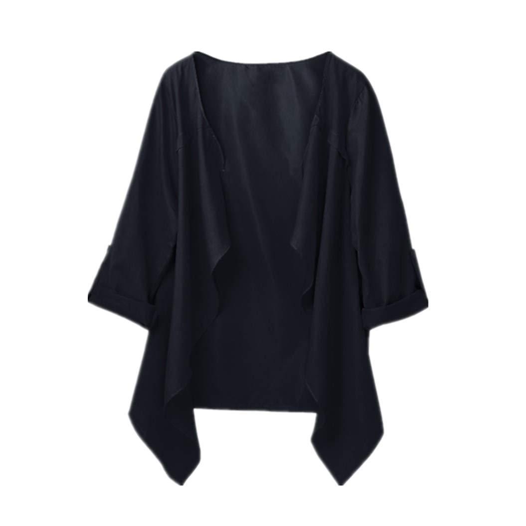 Women Coats Binmer Solid Autumn Spring Long Sleeve Cardigan Coat Casual Loose Plus Size Coat Binmer_coat Kangdanielkda-0563