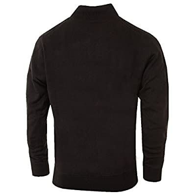 Calvin Klein Golf Men's Ribbed Lined Sweater - US M - Black