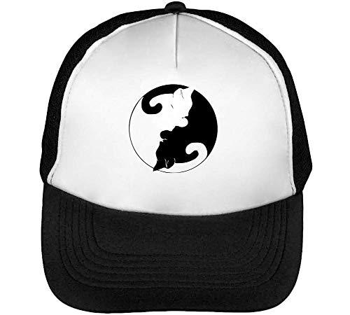 Blanco Negro Hombre Kittiens Beisbol Gorras White Black Snapback WFq0gZ1pn