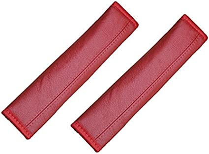 Pitshop24 De 2 Gurtschoner Gurtpolster Echt Leder Rot Auto