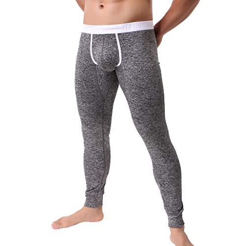 DEESEE(TM)Men's ComfortableThermal Warm Fitting Bottom Pants Leggings Pants (M, Black) ()