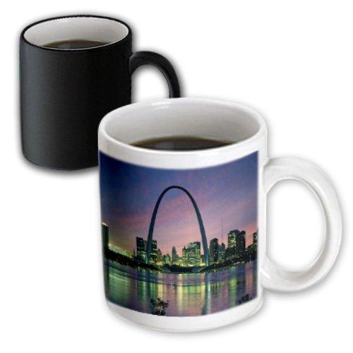 3dRose mug_56145_3 St Louis Missouri Arch at Nite Magic Transforming Mug, 11 oz, - Missouri Louis St Outlet