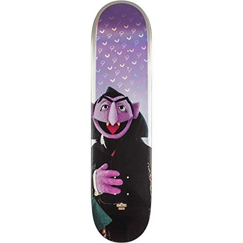 に対処する煙不合格Globe Sesame Street Count von Countスケートボードデッキ7.75