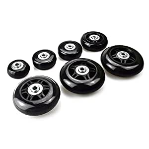 B.LeekS Luggage Suitcase Wheels with ABEC 608zz Bearings, Inline Outdoor Skate Replacement Wheels with Multiple Sizes, One Set of (2) Wheels (45mm x 18mm)