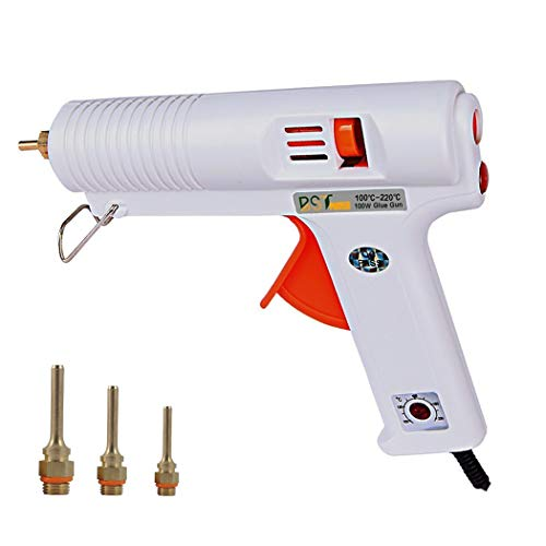 - 100W Hot Glue Gun with Three Nozzles, BSTPOWER 2T High Temp Heavy Duty Melt Glue Gun, Flexible Trigger Overheating Protection for DIY Small Craft Projects and Home Quick Repairs