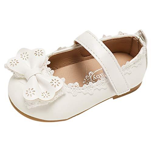 - Tantisy ♣↭♣ Toddler/Little Girls Mary Jane Ballerina Flats Shoes Slip-on School Party Dress Shoes White
