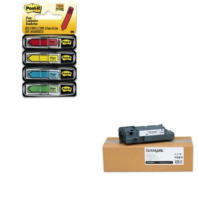 KITLEXC52025XMMM684SH - Value Kit - Lexmark Waste Toner Box for C520/C522/C524 (LEXC52025X) and Post-it Arrow Message 1/2amp;quot; Flags (MMM684SH) (C520n C524 C522 Waste Toner)