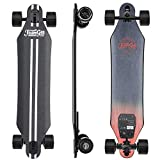 Teemgee H5 37' Electric Skateboard, Lighter & Thinner Longboard with Wireless Remote Control, 13.5 Lbs|0.5 Inch Deck Thick|22 MPH Top Speed|760w Dual Motor