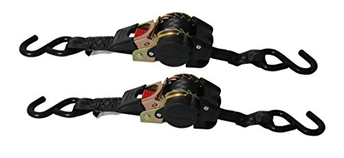 Reese Carry Power 9425500 Black 6' Retractable Ratchet Tie Down - 2 Piece