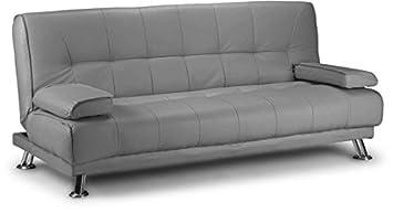 Venice 3 Seater Click CLACK Sofa Bed (Grey pu)