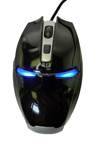 LB1 High Performance New Mouse for HP Compaq Intel Core i3 4GB 500GB HDD Capacity Desktop PC Windows 8 Pro 64-Bit Pro 4300 (C7A42UT#ABA) 4 DPI Levels (800/1200/1600/2400) Professional USB Wired Gaming Mouse 7 Buttons Iron Man Mouse Blue LED Light for Pro Gamer