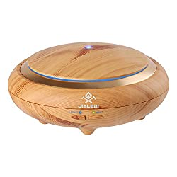 Aroma Essential Oil Diffuser 150ml, Wood Grain BPA Free Ultrasonic Cool Mist Humidifier with Color Changing Mist Mode Adjustment Waterless Auto off for Home Office Bedroom Living Room Bedroom