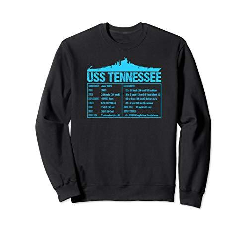 WW2 USS Tennessee Battleship Technical Facts Sweatshirt