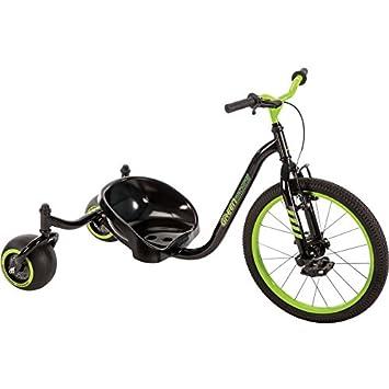 Huffy verde máquina, acero inoxidable. Evolución Trike triciclo en negro brillante Drift: Amazon.es: Deportes y aire libre