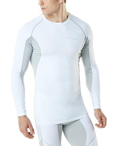 TM-MUD71-WTL_2X-Large Tesla Men's Mesh-Side-Back Panel Long-Sleeved T-Shirt Compression Baselayer MUD71