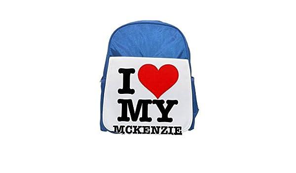 I Love My McKenzie 091231901 - Cojín Impreso Kid s azul ...