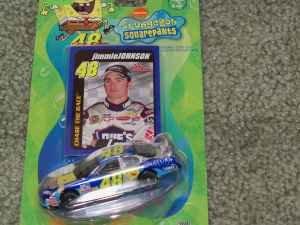 Jimmie Johnson #48 Sponge Bob SpongeBob Squarepants Square Pants Lowes Chevy 1/64 Scale Ultra Series Racing Champions Real Rubber Tires