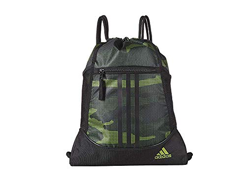 adidas Unisex Alliance II Sackpack, Tech Olive Off The Grid Camo/Black, ONE SIZE from adidas